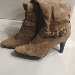 Tan Seude Boots Size 9